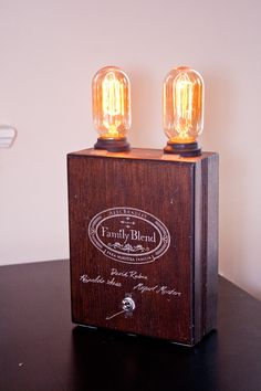 Cigar Box Lamp // Family Blend by PositLabs on Etsy, $40.00