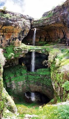 Baatara Gorge Waterfall in Lebanon, Missouri.
