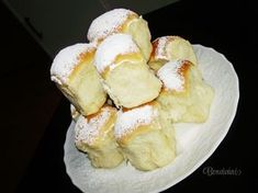 Ceske Buchty - Soft, Stuffed Czech Rolls - Recipe in Czech Czech Recipes, Russian Recipes, Challa Bread, Snack Recipes, Cooking Recipes, European Cuisine, Bread And Pastries, Desert Recipes, Pain