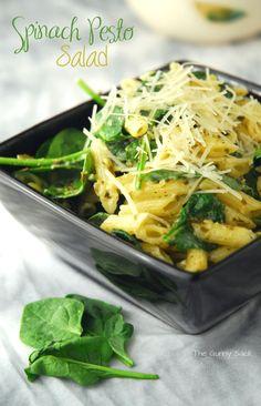 Summer Salad Recipe: Spinach Pesto Salad
