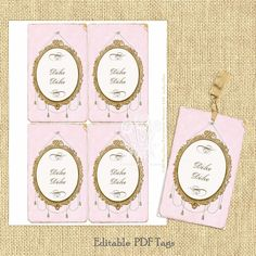 Instant Download Pink Chic Vintage Style by tatteredvintage, $9.00