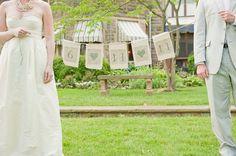 #bunting, #burlap  Photography: Shannon Sano Photography - shannonsano.com  Read More: http://stylemepretty.com/2011/08/10/granville-wedding-by-shannon-sano-photography/