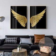 New Design 2 Piece Gold Wings Print Painting Pictures on Canvas Large Wall Art Framed Luxury Wall Art gift for Living Room Home Decoration New Design 2 Pieces Gold Wings Print Painting Pictures on Canvas Large Wall Art Framed Luxury Wall A Diy Wall Art, Large Wall Art, Framed Wall Art, Canvas Wall Art, Canvas Prints, Wall Art Pictures, Pictures To Paint, Painting Pictures, Angel Wings Art