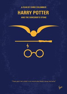 No101 My Harry Potter Minimal Movie Poster by Chungkong Art