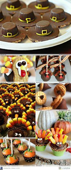 Thanksgiving Desserts Ideas (cute christmas goodies)