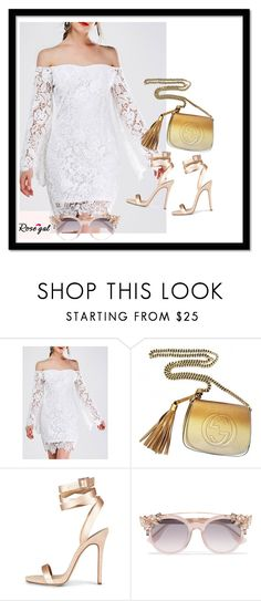 """""""Rosegal #80"""" by natasa-cant ❤ liked on Polyvore featuring Gucci and Jimmy Choo"""