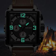 MEGIR 2061 Unique Style Chronograph Men Wrist Watch at Banggood Men Watch, Quartz Watches, Cook Islands, Bosnia And Herzegovina, Vanuatu, Style Men, Papua New Guinea, Watches Online, Grenadines