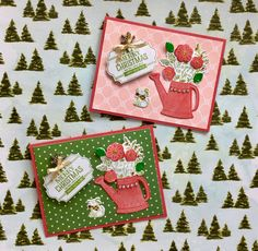 Stampin up Grown with love Christmas cards