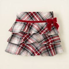 Children's place plaid skirt $16.95. LOVE this for E's Christmas/Nutcracker outfit!