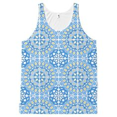 Portuguese tile patterns All-Over print tank top Tank Tops