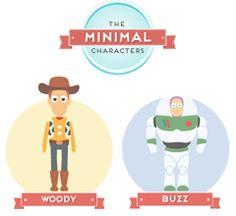 Minimal Pixar and Disney Characters