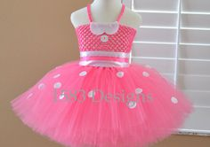 Minnie's Bowtique Tutu Dress Costume Birthday special occasion minnie mouse pink or red disney photos by 1583Designs