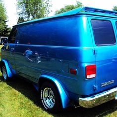 Clean custom Chevy 70's van