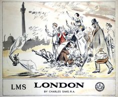 'London', LMS poster, 1924. London Midland & Scottish Railway poster. Artwork by Charles Sims.