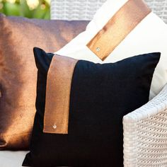 The perfect combination of simplicity, minimalism and functionality.  Available in either calico or black cotton drill, each cushion features our signature coppered fabric with a hint of metal detail.  Each cushion cover measures 36cm x 36cm, with inserts available for purchase.  Each piece is handmade by Cotton