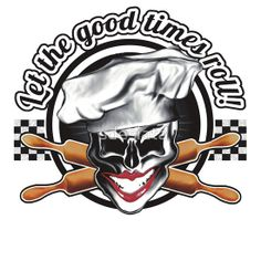 You love what you do, so let it be known - and 'Let the good times roll', wearing this cool Baker Skull t-shirt or hoodie! iPhone and iPad cases are also available, making  perfect gifts for anyone with a fierce passion for baking. Available in many different colors and styles at RedBubble! For Aprons, hats, mugs, and more, visit www.zazzle.com/whiskybusiness