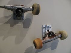 Kristie Chamlee: Boy's Skateboard Room Design  good idea for old worn out trucks!