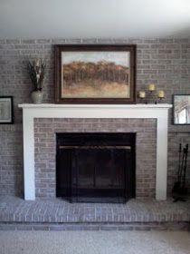 DIY Decor: Brick fireplace makeover.  Dry brushing.