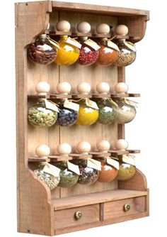 """box to spices 15 bubbles tint """"Bubbles of spices"""" -Wooden box to spices 15 bubbles tint """"Bubbles of spices"""" - 20 bubbles dyed spice racks wood Bubbles of spices Cool Kitchen Gadgets, Kitchen Items, Home Decor Kitchen, Cool Kitchens, Kitchen Design, Do It Yourself Camper, Cabinet Styles, Wood Colors, Kitchen Accessories"""