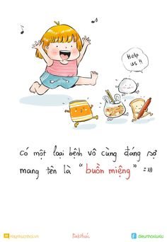Muốn ăn cả tg :3 Youth Quotes, Girl Quotes, Love Quotes, Funy Quotes, Happy Quotes, My Little Corner, Funny Stickers, Funny Stories, Cute Illustration