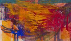 Katharina Prantl, Athener Bucht, Mischtechnik auf Leinen, 120 x 200 cm, 2017