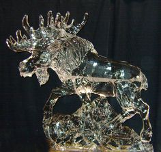 Moose Ice Sculpture | moose ice carving Visit http://www.brides-book.com for more great ...