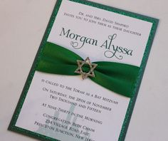 Girl Wizard of Oz Bat Mitzvah Invitation with by atouchofsunshine4