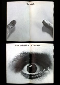// the book, is an extension of the eye . . .