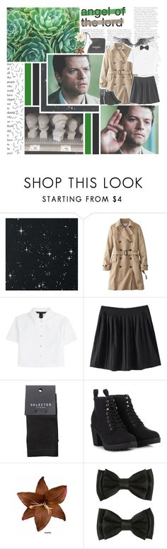 """""""please, don't lose your faith in me"""" by impossibleyear ❤ liked on Polyvore featuring Anderson's Belts, Zephyr, Chanel, Uniqlo, Marc by Marc Jacobs, SELECTED, Call it SPRING, Clips and Again"""