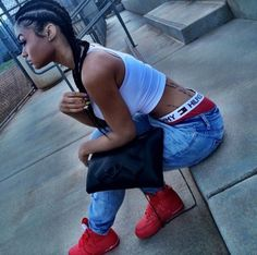 India Westbrooks Red Air Forces Denim Blue Jeans Tommy Hilfiger Boxers Sagging Pants Trend Braids