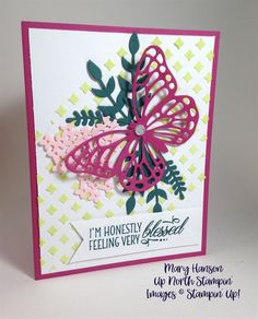 Embossing Paste Beautiful Bouquet Butterfly Thinlits Mary Hanson Up North Stampin