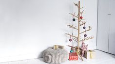 Wooden christmas tree made from Ash wood by Demelzahill on Etsy
