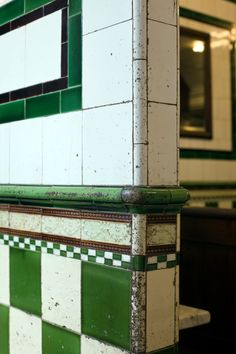 Victorian tiling at Manze's in Tower Bridge Rd, London's oldest Pie & Mash Shop, which opened in 1897.