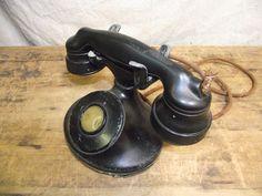 Very old vintage bakelite phone telephone