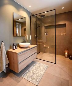 Dreaming of an extravagance or designer master bathroom? We've gathered together plenty of gorgeous bathroom suggestions for small or large budgets, including baths, showers, sinks and basins, plus master bathroom decor suggestions. Diy Bathroom Decor, Bathroom Styling, Bathroom Storage, Bathroom Ideas, Bathroom Organization, Nature Bathroom, Boho Bathroom, Bathroom Layout, Bathroom Cleaning