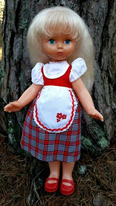 1970s USSR Soviet Russian Large Size Doll Character Fairy-Tale   LITTLE RED CAP