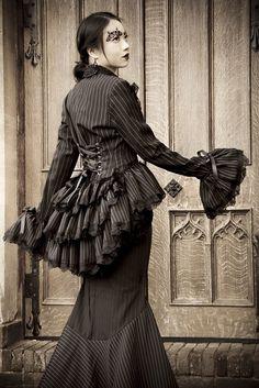 Gothic Victorian bustle jacket.