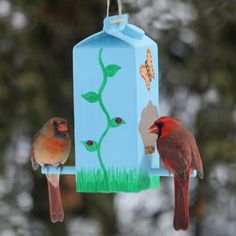 15 ideas nature diy crafts bird feeders for 2019 Kids Crafts, Winter Crafts For Kids, Projects For Kids, Diy For Kids, Diy And Crafts, Craft Projects, Homemade Bird Feeders, Diy Bird Feeder, Camping Crafts