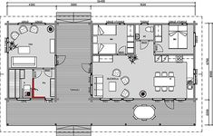 SILKKIUIKKU - Merituuli Huvilat - Merituuli Huvilat My Dream Home, House Plans, Home And Family, Villa, New Homes, Floor Plans, Cottage, Cabin, How To Plan
