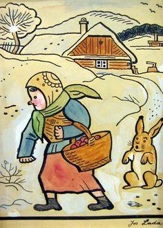 from czech story books Josef Lada Pattern Illustration, Children's Book Illustration, The Good Soldier Svejk, Fork Art, Grandma Moses, Naive Art, Russian Art, Children's Literature, Illustrators