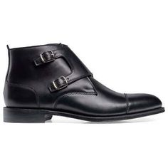New+Handmade+Men's+Ankle+High+Leather+Cap+Toe+Black+Double+Monk+Strap+Boots Boots+Detail Upper:+High+Quality+Leather Inner:+soft+leather Sole:Leather Gender:Male Heel:Leather Totally+Hand+stitched If+you+can't+find+your+Size/Color+just+send+us+mess. Suede Leather Shoes, Leather Cap, Calf Leather, Soft Leather, Cowhide Leather, High Ankle Boots, Shoe Boots, Men's Boots, Double Monk Strap