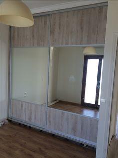 Ντουλαπα με συρόμενα φύλλα απο ξύλο καο καθρέφτη