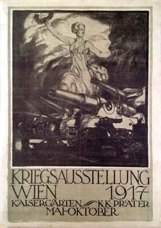 War Exhibition Vienna 1917  Artist: József DIVÉKY    vintage poster from the Budapest Poster Gallery