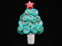 Vintage+Hallmark+Cards+Button+Christmas+Tree+by+mimisvintageshop,+$7.00