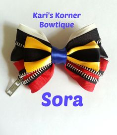 Kingdom Hearts Sora Inspired Bow