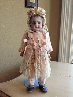 Super-Rare-Antique-Simon-Halbig-939-Bisque-Doll-9-034-Cabinet-Size-All-Original-Wow
