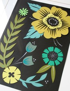mmmcrafts...papercut flowers...gorgeous