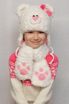 Knitting Bear Hat Crochet Bear Hat Hat Character by MeetBestKnit
