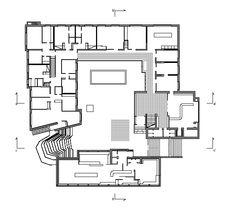 Town Hall in Säynätsalo, Finland - Floor Plan. Alvar Aalto. 1952
