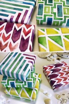 Jewel Watercolor Wrapping Paper.